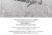 """""""HOMMAGE a…"""" címmel a Soproni Fotóművészeti Kör kiállítása"""