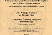 Akadémia Örökség Program Selmecbánya előadás