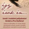 Így írok én…-irodalmi pályázat